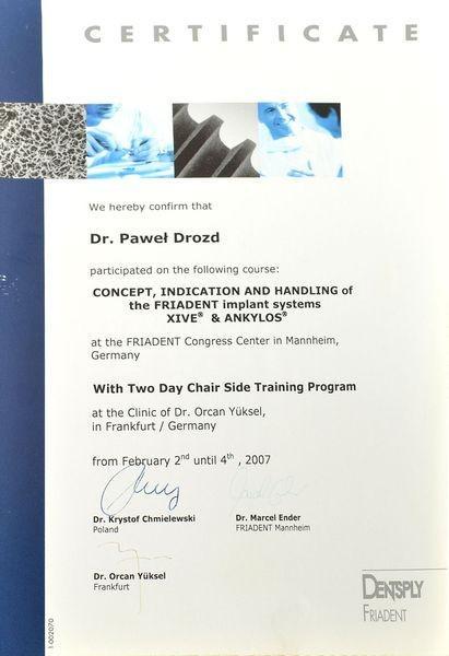 Certyfikat doktora