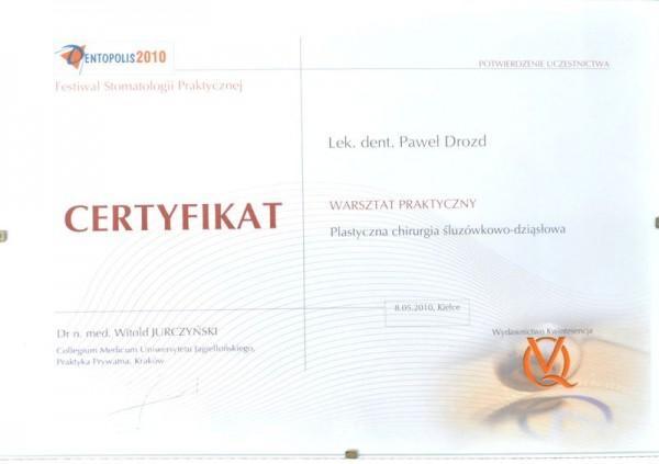 Certyfikat warsztaty praktyczne